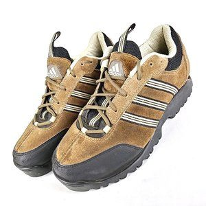 Brown Suede Lace Up Casual Sneakers Fitness Shoes